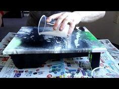 Abstract Acrylic Dirty Pour Fluid Painting With Cells: Labradorite - YouTube