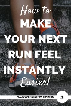 This is a super simple, easy, and noticeable running tip that will make your next run feel so much easier! You're not going to want to miss this quick tip!