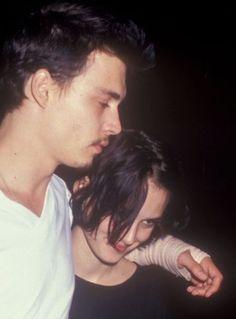"ccrrybabyy:  ""Winona Ryder & Johnny Depp  """
