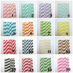 50 Paper Straws Pick Your Colors Weddings by PartySupplyCorner, $5.00