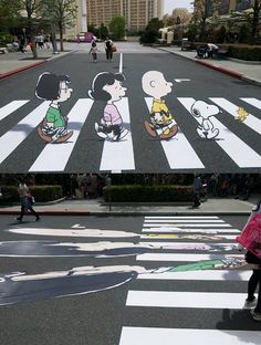 """peanuts, """"Abbey Road""""-style"""