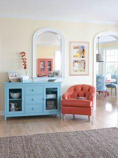 Colorful Coastal Furniture | Maine Cottage