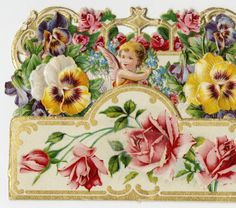 Cupid among pansies and roses :: Archives & Special Collections Digital Images :: circa 1900-1909