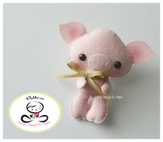 Baby Pig-PDF pattern-Felt pig-DIY Project-Farm Animals-Nursery decor-Instant Download-Baby's mobile toy-Cute pig-Kids present