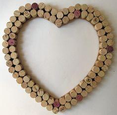 Wine Cork Heart Wall Decor /Bulletin Board