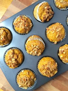 Whole Wheat Pumpkin Muffins with Apples and Walnuts - The Lemon Bowl