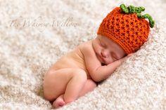 Cross Stitch Pumpkin hat! Super cute!