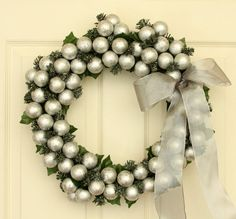 Silver Merriment Holiday Wreath // Christmas by WeLoveWreaths, $80.00