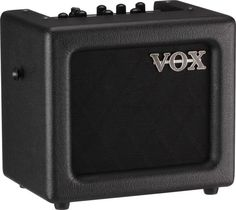 Vox Mini 3 3W Battery-Powered Guitar Amp - Black - The MINI3 Modeling Guitar Amplifier offers everything a guitarist needs: a wide range of authentic sounds; great effects; a convenient, compact size; AC or battery powered portability; along with the great design from VOX.    Drawing on VOX's superior modeling technology, the MINI3 provides a total of eleven amp models, ranging from a powerful high-gain sound to a sparkling clean sound.