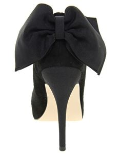 Enlarge Carvela Jade Suede Heeled Shoe With Bow Back