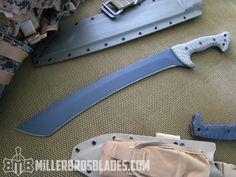 Miller Bros. Blades Custom Jungle Sword  Available in Z-Wear PM, CPM 3V and 5160   Miller Bros. Blades Custom Handmade Knives, Swords & Tomahawks.
