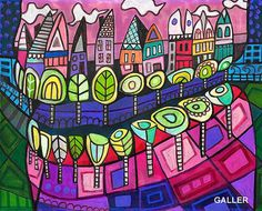 SURREAL Teeth Original Painting by Heather Galler Abstract Anatomy ...