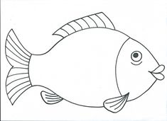 ryby | Výtvarná výchova Colouring Pages, Coloring Pages For Kids, Coloring Books, Ocean Crafts, Fish Crafts, Pottery Patterns, Craft Patterns, Preschool Colors, Preschool Crafts