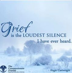 Grief is the LOUDEST SILENCE I have ever heard