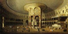 Canaletto - Rotonde du Ranelagh à Londres, 1754.