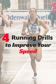 4 Running Drills to Improve Your Speed - Get tips and workouts on how to run faster and shave time off your races. Running Drills, Running Workouts, Running Tips, Running Humor, Running Form, Running Club, Cardio Workouts, Trail Running, Speed Workout