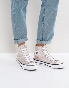 139cae5f50 Converse Chuck Taylor All Star Hi Top Metallic Sneakers In Rose