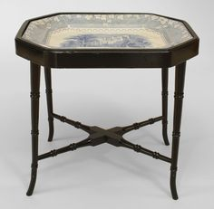 English Victorian table coffee table ebonized