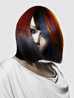 Cool Multi-Chromatic Hair Color Ideas for Fall 2012