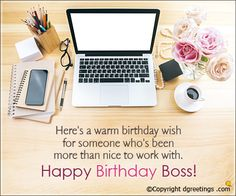 Want To Wish Your Boss On His Her Birthday Send These Messages Happy