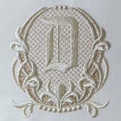 Fleur de Lis II Alphabet- D