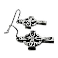 Celtic cross shaped Earrings