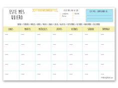 ¡ Planificate el mes completo con el Organizador Mensual Lovely ! La mejor forma de planificarte objetivos a largo plazo y que no se te escape ninguna cita, eve