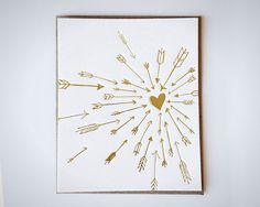 Gold Arrows Card.