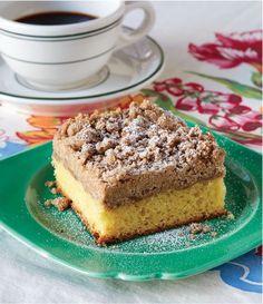 Christy Jordan's Lotsa Crumb Cake  makes coffee time even more enjoyable~http://www.southernplate.com