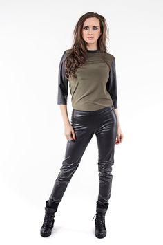 Spodnie rurki SL4009 www.fajne-sukienki.pl Leather Pants, Fashion, Leather Jogger Pants, Moda, Fashion Styles, Lederhosen, Leather Leggings, Fashion Illustrations