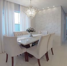 Sistema Drywall, Dining Chairs, Dining Table, Dining Rooms, Dining Room Colors, Decoration, Sweet Home, Room Decor, Design Inspiration
