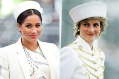 Princess Diana news: Meghan Markle, Duchess of Sussex just channelled Princess Diana's iconic style during Commonwealth Day services. Princess Meghan, Princess Diana, Famous Wedding Dresses, Meghan Markle Wedding Dress, Catherine Walker, British Royal Families, Anna Wintour, Prince William And Kate, British Royals