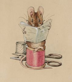 Beatrix Potter 1902 - one of her beautiful illustrations (from my favourite Beatrix Potter book, 'The Tailor of Gloucester'!)