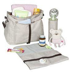Lässig Green Label Lightweight Shoulder Bag, black mélange: Amazon.co.uk: Baby