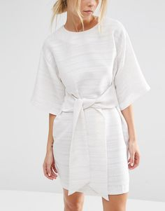 Image 3 of ASOS Tie Front Shift Dress