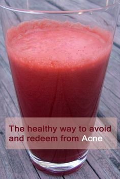 The healthy way to avoid and redeem from #Acne