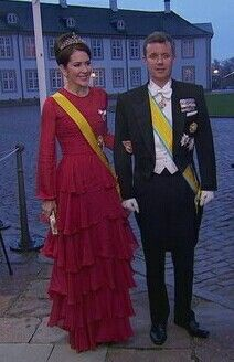 Crown Princess Mary & Crown Prince Frederik At Gala Dinner For Mexico.