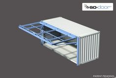 Container House - hydroswing hydraulic iso container door 6 - Who Else Wants Simple Step-By-Step Plans To Design And Build A Container Home From Scratch? Container Van, Container Office, Container House Plans, Container House Design, Container Buildings, Container Architecture, Container Restaurant, Shipping Container Design, Container Conversions