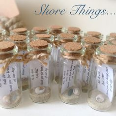 Mini messages in a bottle...love them ⚓️