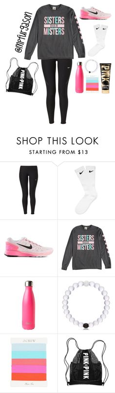"""""""#Healthy2k16"""" by mpfurgason ❤ liked on Polyvore featuring NIKE, S'well, J.Crew, women's clothing, women, female, woman, misses, juniors and Healthy2k16"""