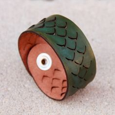 Smooth Scales Leather Bracelet by TheArmoredDragon on Etsy, $20.00