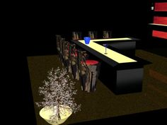 Beginning of bar scene 3 ds max