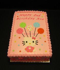 Birthday Sheet Cake Designs   Hello Kitty Party — Children's Birthday Cakes