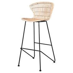 Dimensions: cm by misterwils_France Banquettes, Rattan, Powder Paint, High Stool, Paint Finishes, Scandinavian Style, Steel Frame, Bar Stools, Dimensions