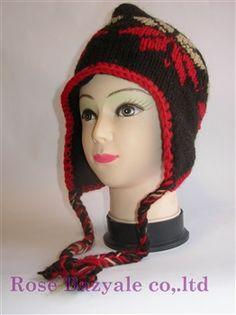 Woolen Animal Hand Made Knitt Hat Red Brown