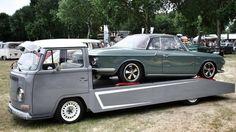 ♠ VW car hauler & NSU. Nice combo