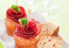 Muffin di Peperoni e Provola con Bresaola