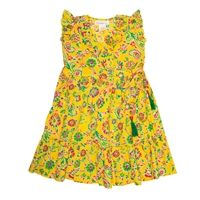 Ayla Wrap Dress Ananya Floral Yellow