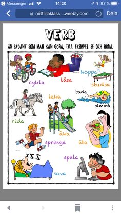 Verb Learn Swedish, Swedish Language, Knowledge Is Power, Classroom, Learning, School, Kids, Pictures, Languages