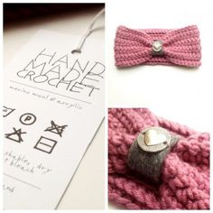 Silver Heart - merino wool & acrylic crochet headband